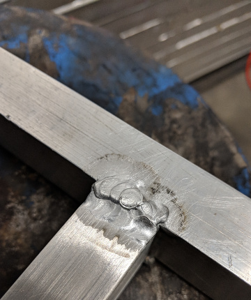 Aluminum weld for Walnut Valley Robotics 2018